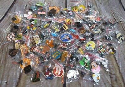 Disney World Pin Trading Lot Lanyard Starter Set With 2 Lanyards and 50 Pins