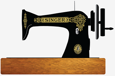 Singer Model 15 Improved Family Celtic Style  Sewing Machine Restoration Decals 2