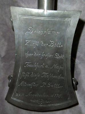 Zunftzinn: Schankgefäss der Böttcherzunft 1778