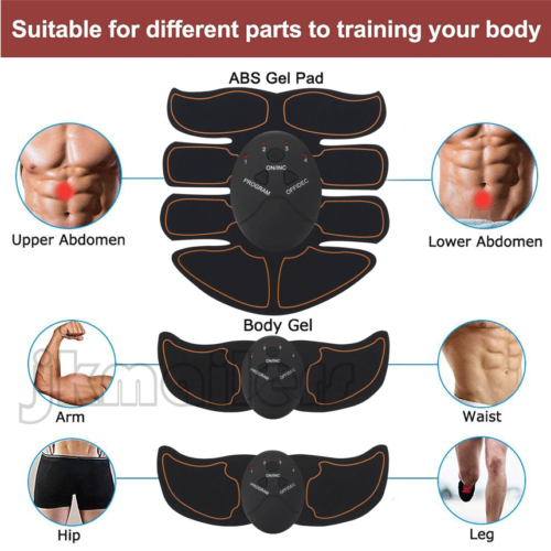 Ultimate EMS AB & Arms Muscle Simulator ABS Training Home  Abdominal Trainer Set 3