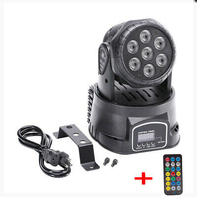 2x 105W RGBW Wash 7LED 9/14CH DMX Mini Moving Head Stage Light Lighting DJ Disco 11