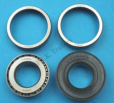 """2 x Wheel Bearing L44643 44610 to fit 1"""" Axle for 4"""" PCD Trailer Hubs  #KIT100 3"""