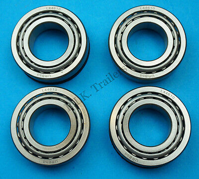 """2 x Wheel Bearing L44643 44610 to fit 1"""" Axle for 4"""" PCD Trailer Hubs  #KIT100 4"""