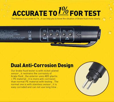 Brake Fluid Liquid Oil Tester Pen 5 LED Indicator Car Testing Tool for DOT3/DOT4 2