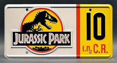 Jurassic Park Jeep Wrangler | #10 #12 #18 #29 | STAMPED Prop License Plate Combo 2