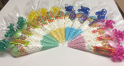 **Choice of colours* FREE PERSONALISED STICKERS HALAL Sweet Cones Pre Filled