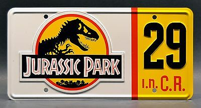 Jurassic Park Jeep Wrangler | #10 #12 #18 #29 | STAMPED Prop License Plate Combo 8
