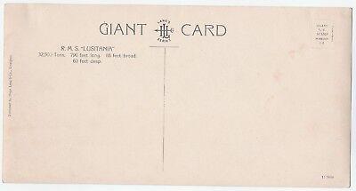RARE Postcard - RMS Lusitania - Hugo Lang's Giant Card - Real Photo RPPC ca 1907
