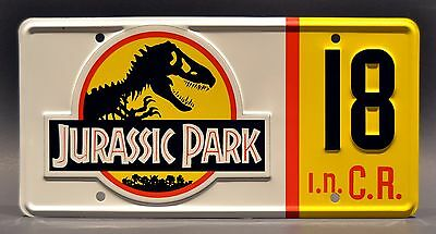 Jurassic Park Jeep Wrangler | #10 #12 #18 #29 | STAMPED Prop License Plate Combo 6