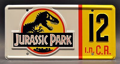 Jurassic Park Jeep Wrangler | #10 #12 #18 #29 | STAMPED Prop License Plate Combo 4