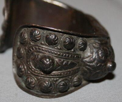 Antique Greek Medieval Bronze Fertility Folk Art Hand Made Bracelet 10