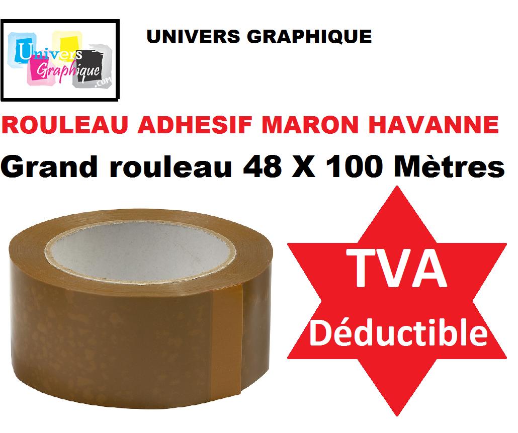 1 à 72 Rouleau, Ruban  ADHÉSIF EMBALLAGE marron havane; transparent ou blanc 2