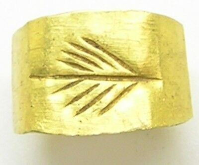 1st - 3rd century A.D. Ancient Roman Gold Finger Ring Victory Palm 7