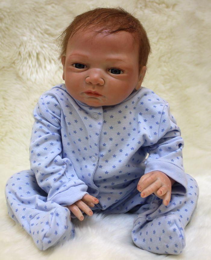 """20"""" Full Body Realistic Reborn Dolls Lifelike Baby Boy Newborn Doll Gifts 5"""