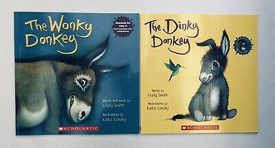 Lot 2 The Wonky Donkey + Dinky Donkey Childrens Book Bestselling World Famous! 10