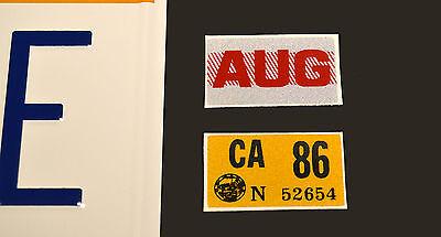 Back to the Future | Delorean | OUTATIME | STAMPED Replica Prop License Plate 3