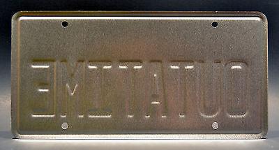 Back to the Future | Delorean | OUTATIME | STAMPED Replica Prop License Plate 2