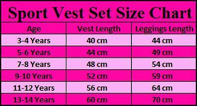 Girls Sports Vest Tank Top Neon Camouflage Striped Leggings Yoga Set 3-14 Years 7
