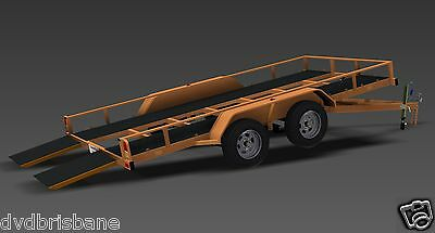 Trailer Plans - TILT FLATBED CAR TRAILER PLANS (14x6ft) - 2500kg - PLANS ON USB 2