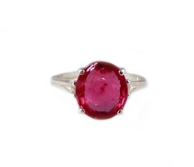 Red Sapphire Ring 5¼ct Antique 19thC Medieval Sorcery Psychic Anti-Black Magic 4