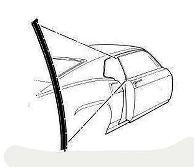 New 1969 1970 Mustang Fastback Door Glass Quarter Window Channel