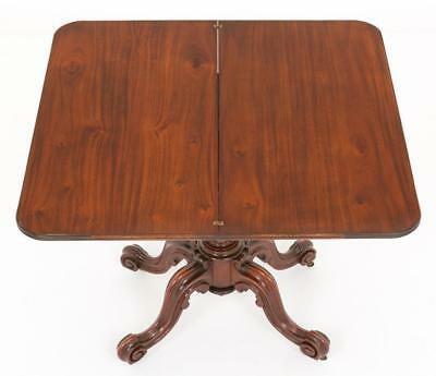 Victorian Mahogany Card Table - Games Tables 1860 8