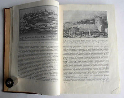 1950/54 P.SYTIN Russia MOSCOW History of Planning & Building Books 2 Volumes 5