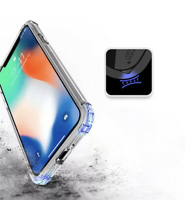 For iPhone XS Max XR X 8 7 6 5 Shockproof Bumper Transparent Silicone Case Cover 11