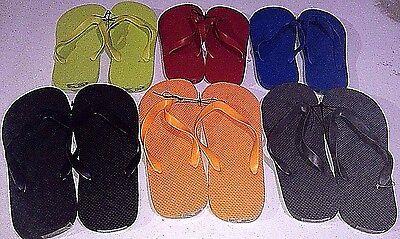 New Men's Unisex Flip Flops/Shower Shoes Blue, Orange, Black,Red,Lime Green,Grey 8
