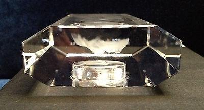 Crystal Desk Clocks with Laser Engraved Image of Prince William /& Kate