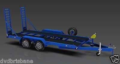 Trailer Plans- 3500KG FLATBED CAR TRAILER PLANS- 4800x1760mm- PRINTED HARDCOPY 5