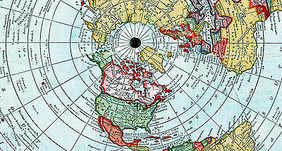 Flat Earth Map Of The World By Alexander Gleason Made 1892 Poster
