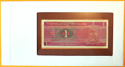 Netherlands Antilles 1973 - 5 Gulden Banknote enclosed in stamped envelope
