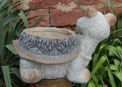 Gartenfigur Igel Pflanztopf Granitoptik  Figur  Garten Deko NEU