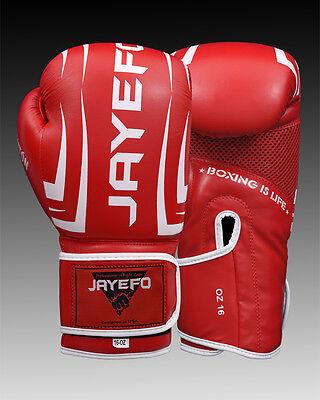 ... Leather Boxing Gloves Muay Thai Training Punching Bag Sparring Gloves  MMA jayefo 2 8b47eedb631da