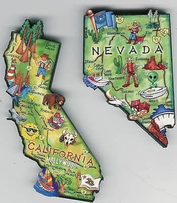 Artwood  Nevada Nv  State Map Magnet  Carson City  Reno Las Vegas  Lake Tahoe