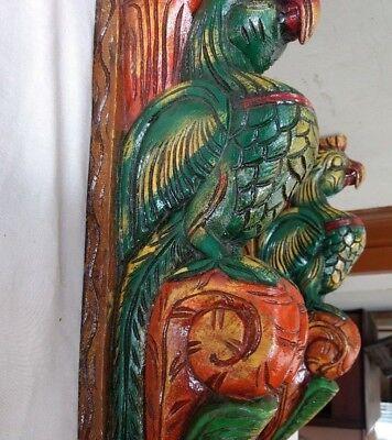 Hand carved Eagle Wooden Wall Corbel Bracket Pair Bird Sculpture Art Decor Rare 5