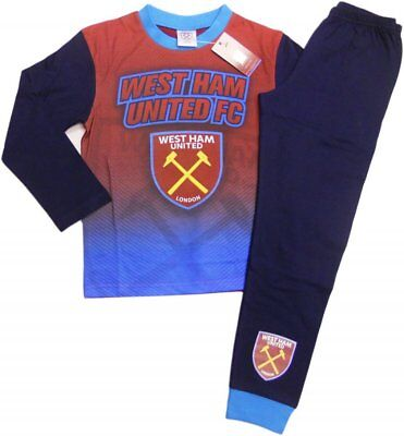 West Ham Utd FC Boys Football Pyjamas pjs Set Age 2 - 13 years HAMMERS IRONS 3