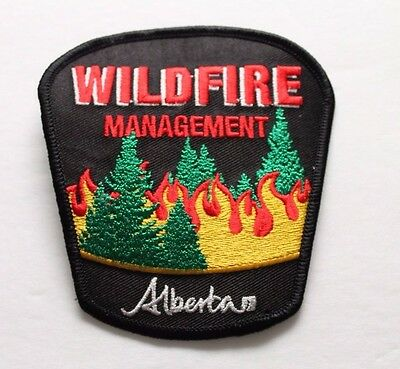 Alberta Wildfire Management Shoulder Patch Flash - Set of 2- Firefighting Canada 2