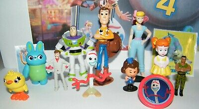 Disney Toy Story 4 Movie Figure Set of 10 With New Character Forky and Bonus 2