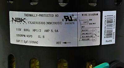 Blower Motor 1/2 HP 115V 4 Speed for Heil Tempstar Emerson 1013341 K55HXJEW-9056 5