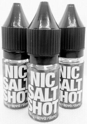 Nic Salt Shot 18MG 10ML 80VG/20PG BY Mister Vape Unflavoured Nicotine Salt Shots 4