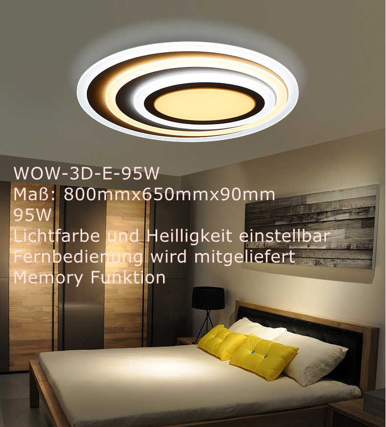 DIMMBAR LED DECKENLAMPE Deckenleuchten einstellbar mit