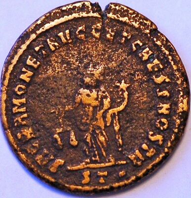 Maximian was Roman Emperor from 286 to 305 AD Copper Coin. 2