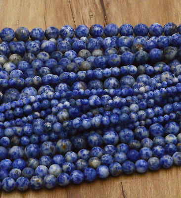 New Wholesale Natural Gemstone Round Spacer Loose Beads 4MM 6MM 8MM 10MM 12MM 6