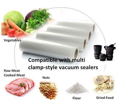 6/10 X Vacuum Food Sealer Seal Bags 6M Rolls Saver Storage Commercial 20 22 28cm 10