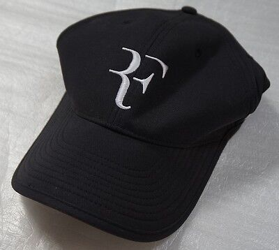 82025005f5f NEW NIKE DRI-FIT RF Roger Federer Hat Cap BLACK 589513-010  RARE ...