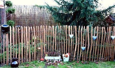 Staketenzaun Holzzaun Kastanienzaun Gartenzaun Zaunlatte imprägniert 50 90 120cm 4