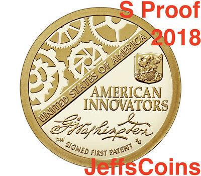 2018 P D S American Innovation Dollars Golden Proof + Box & COA 3 Coins PDS 18ga 6
