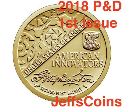2018 P D American Innovation Golden Dollars 2 Best Grade $1 Coins PD US Mint NEW 2